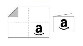印刷した紙を四つ折りまたは二つ折りにすれば完成